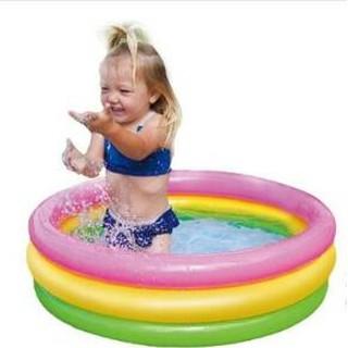 INTEX海洋球池兒童充氣遊泳池玩具家庭水池嬰兒沙池成人洗澡浴盆