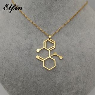氯胺酮分子項鍊 分子項鍊 女士項鍊 生物化學珠寶項鍊