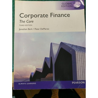 Corporate Finance: The Core (3rd edition)