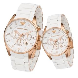 不正包退 Armani/阿瑪尼手錶 CK情侶對錶 石英錶 男錶 女錶 阿曼尼手錶情侶錶 AR5919/AR5920