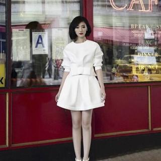 蓬蓬裙 甜美修身 小禮服洋裝 蕾絲