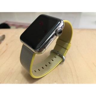 Apple Watch 原廠全新 38 公釐 亮麗黃 尼龍織紋錶帶 不含watch 無外盒