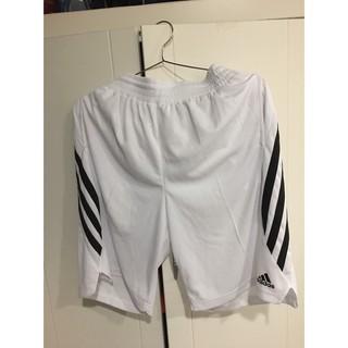 Adidas 白 籃球褲 經典三條紋