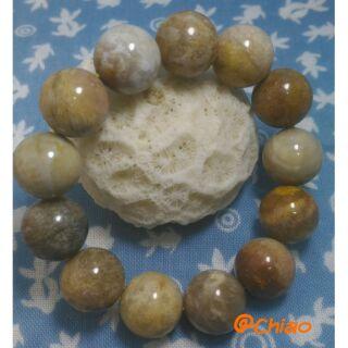 變化萬千~~~天然珊瑚玉(菊花石)16mm手珠、手鍊