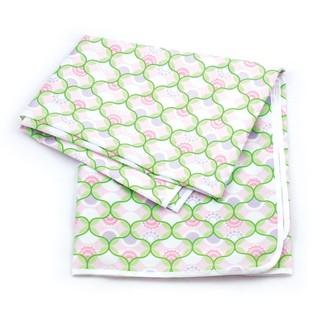 美國 Bumkins Splat Mat 防水防汙地墊 - 粉綠幾何風