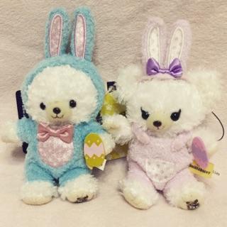 迪士尼 大學熊 復活節 兔子裝 吊飾