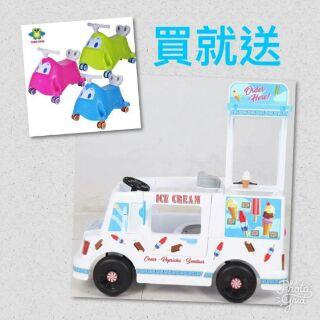 胖卡電動車(W408)(冰淇淋餐車)-冰淇淋電動車-兒童生日禮物