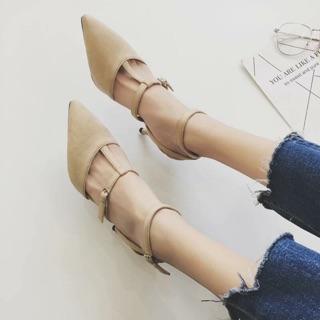 超美尖頭細跟鞋