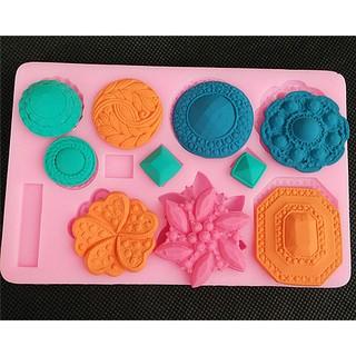 硅膠模具工具 12連模花草蛋糕巧克力果凍布丁模具矽膠手工皂模具