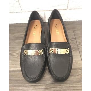 代購 美國COACH Olive Loafer 羊皮平底鞋(黑色)