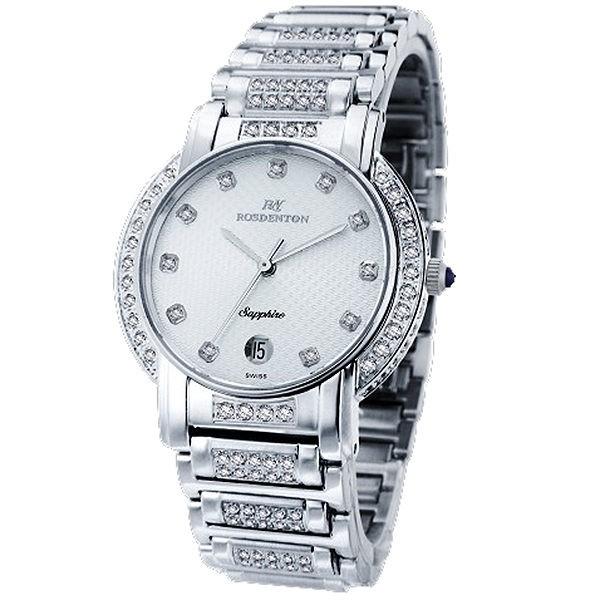 【ROSDENTON勞斯丹頓】 2831MBB-W1 藝術之家男錶 晶鑽時尚腕錶 白銀 臺南 時代鐘錶
