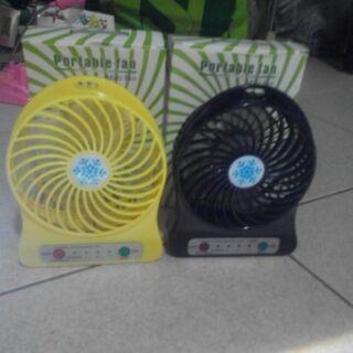 兩台充電式風扇