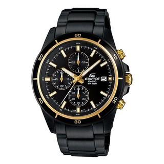 CASIO 卡西歐 EDIFICE 簡潔精準的賽車錶標準三針三圈設計 EFR-526BK