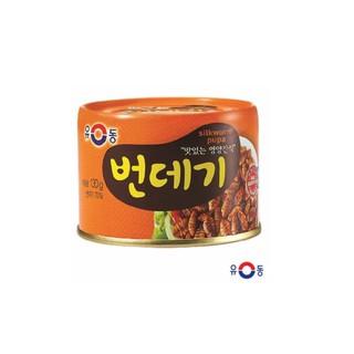 韓國YOODONG熟蠶蛹罐頭 130g // 韓國高營養罐頭,傳統小吃唷!