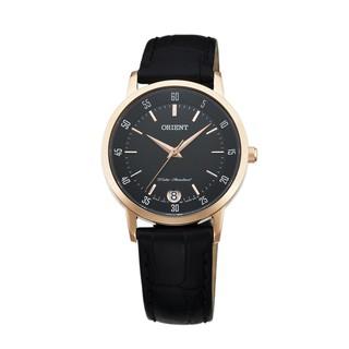 ORIENT東方錶 PAIR系列 優雅數字藍寶石鏡面石英對錶 女生皮帶款