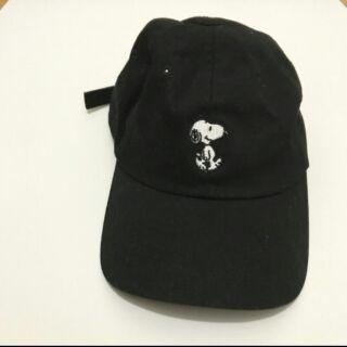 Snoopy peanuts 正版 黑色老帽 史努比 帽子
