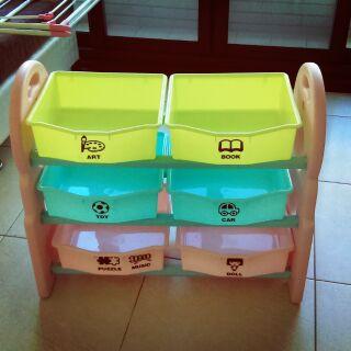 三層玩具收納櫃 玩具收納架