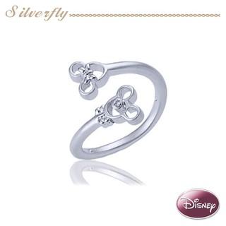 《 SilverFly銀火蟲銀飾 》Disney迪士尼-MR337-QQ米奇 銀墜飾戒指
