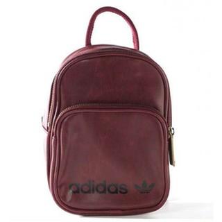 日本連線限定 adidas Originals復古酒紅 皮革 MINI 迷你運動背包 後背包 小包包 肩背包