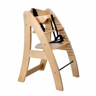 二手 成長型  無餐盤 德國同步 出口 A字椅 原木 實木 嬰兒 寶寶 兒童 小朋友 餐椅 吃飯椅 高腳椅( 原木色 )