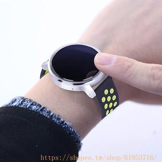 三星 Gear S2 S3 Nike硅膠錶帶(經典扣) 20mm 22mm 矽膠運動 男女雙色矽膠手腕錶帶 替換手環