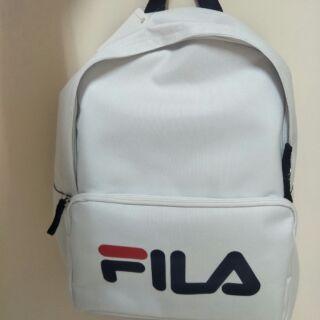 全新 FILA 白 後背包
