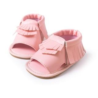 流蘇學步涼鞋