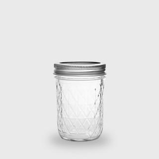 【現貨】美國 Ball 梅森罐 8oz 菱格窄口罐 (單入) Mason Jar 密封罐 儲物罐 收納罐