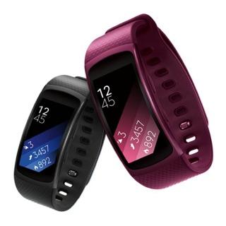 (特賣) Samsung Gear Fit2 Samsung Gear Fit2 心率音樂 智慧手環 (桃紅)