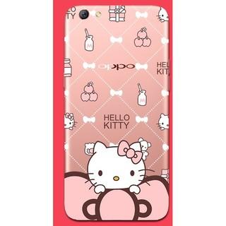 oppor9s手機殼軟殼矽膠手機殼蝴蝶結KT可愛kitty