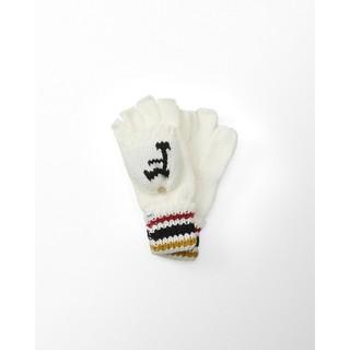 【天普小棧】Abercrombie&Fitch A&F Knit Gloves露指加蓋針織毛線手套乳白色