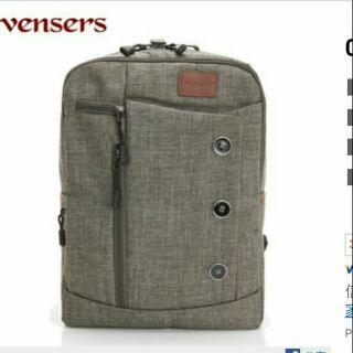 全新Vensers 簡約丹寧後背包 灰色 背包