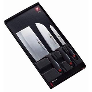 【德國雙人牌TWIN Point】三件式刀具組 (中式片刀+日式廚刀+鋸齒片刀)