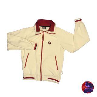PUMA米白色紅線條外套 傑克蘿絲 JackRose 古著