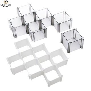 蜂窩襪子內衣收納盒塑膠分隔自由 櫃子收納整理抽屜隔板6 個裝~