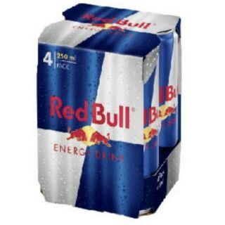4瓶裝 紅牛能量飲料 Red Bull Energy Drink 有糖 含運180元 平均單瓶45元!!!