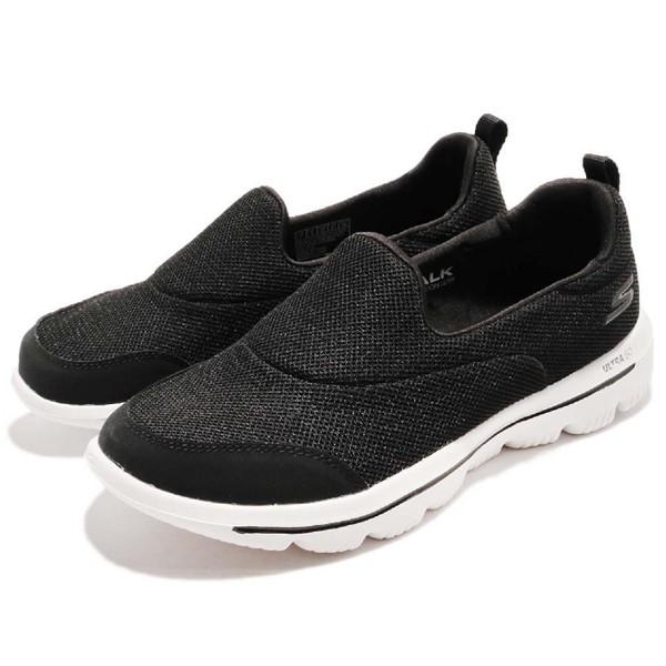 《下殺6折》SKECHERS 【15730BKW】GO WALK EVOLUTION 健走鞋 記憶鞋墊 黑白 女生