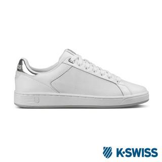 K-Swiss Clean Court CMF美式休閒鞋-女-白/銀