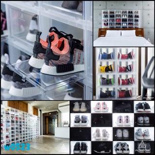 16入現貨 Sneaker mob box 白色 球鞋收納展示盒 球鞋收納盒 質感居家收納 鞋櫃鞋盒 自組堆疊 透明門片