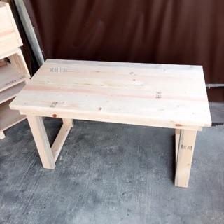 原木手作休閒長桌(長120cm,高67cm,深60cm)