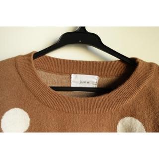 厚針織 點點針織毛衣