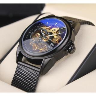 全自動機械錶陀飛輪男鋼帶鏤空腕尚潮流男運動手錶