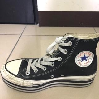 converse高筒厚底鞋
