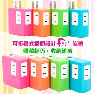 台灣悠麗-高效能炫彩馬卡龍 2A雙USB 充電插座 SD-22U 四色