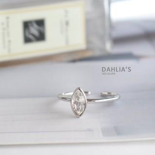【DAHLIA】925純銀戒指 簡約馬眼鋯石戒 銀戒 尾戒 韓款可調整