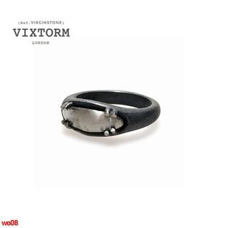 現貨英國VIXTORM設計師款925純銀戒指 男女同款 Prong系列做黑指環