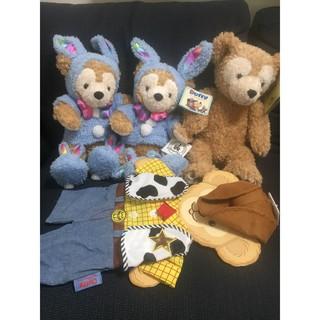 (日本空運) 絕版超稀有 WDW藍兔 胡迪衣服 達菲熊 不拆售 4件套一組