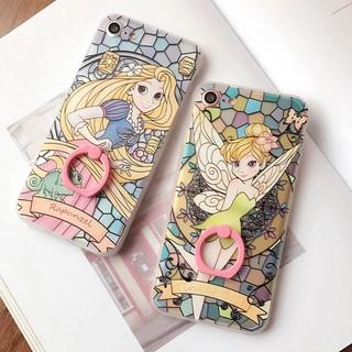 迪士尼公主IPhone系列 長髮公主/小精靈、小仙女 指環手機殼