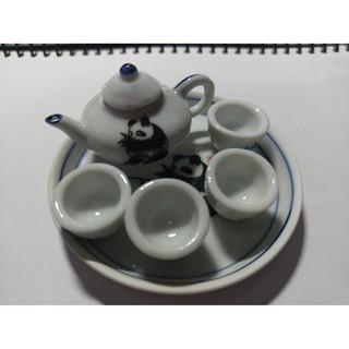 迷你袖珍模型 茶具小模型組(全新未拆封)