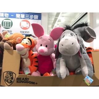 「Janet雜貨小舖-好市多代購」小熊維尼家族 絨毛娃娃 粉紅豬